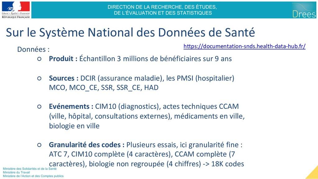 Sur le Système National des Données de Santé Do...