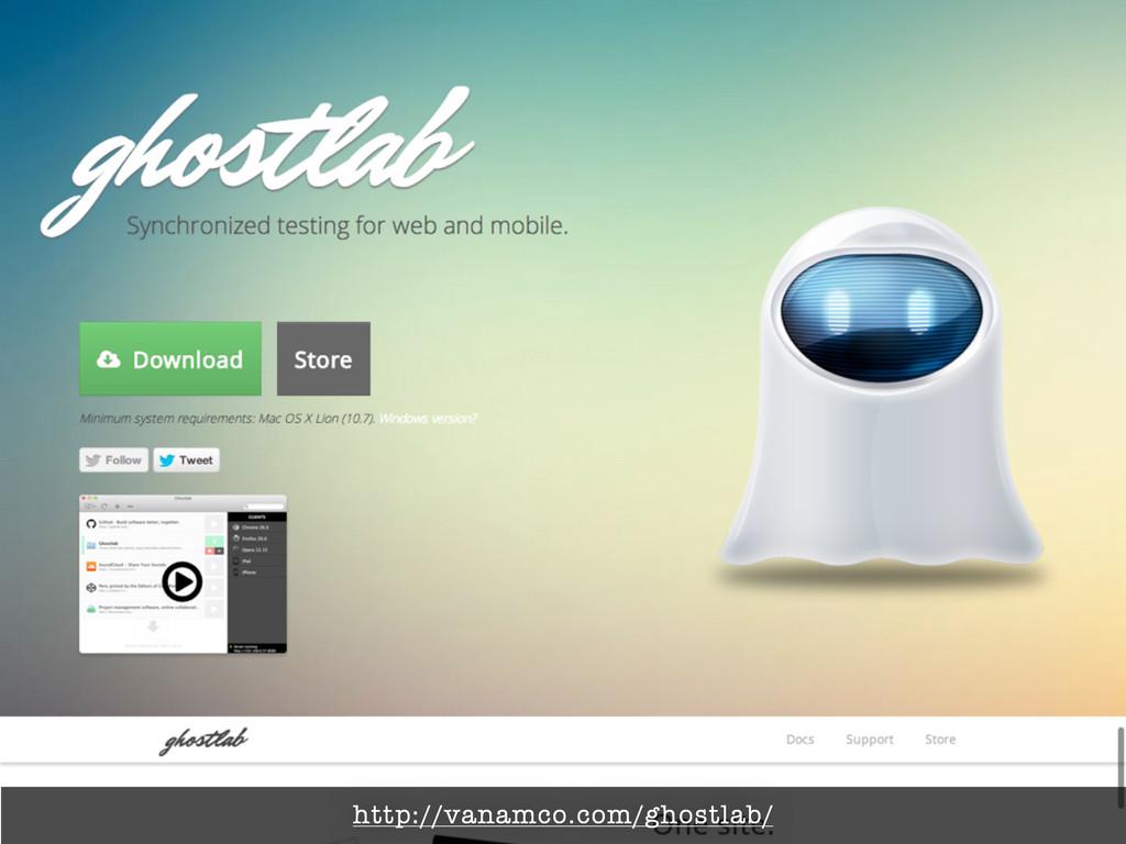 http://vanamco.com/ghostlab/