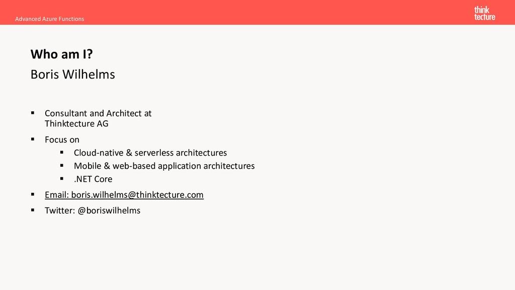 Boris Wilhelms ▪ Consultant and Architect at Th...