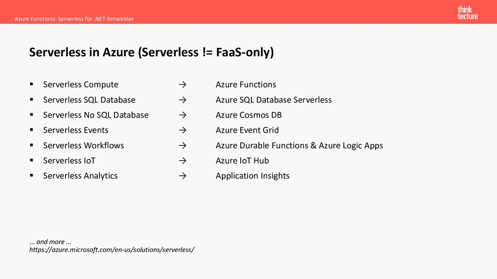 ▪ Serverless Compute → Azure Functions ▪ Server...
