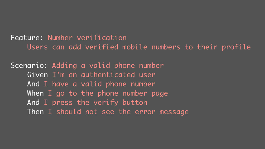 Feature: Number verification Users can add veri...