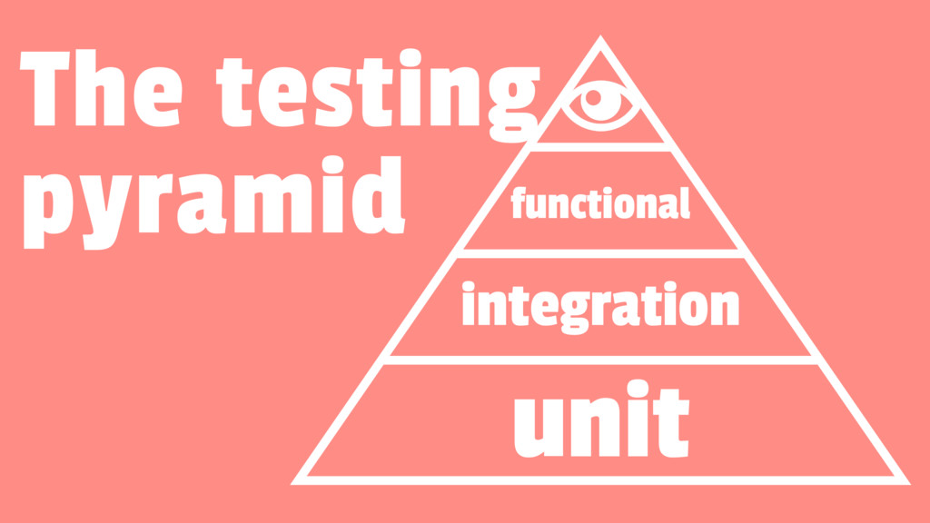 functional integration unit The testing pyramid