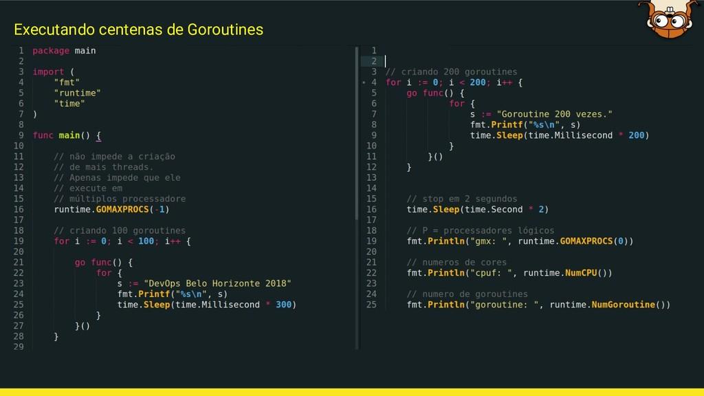 Executando centenas de Goroutines