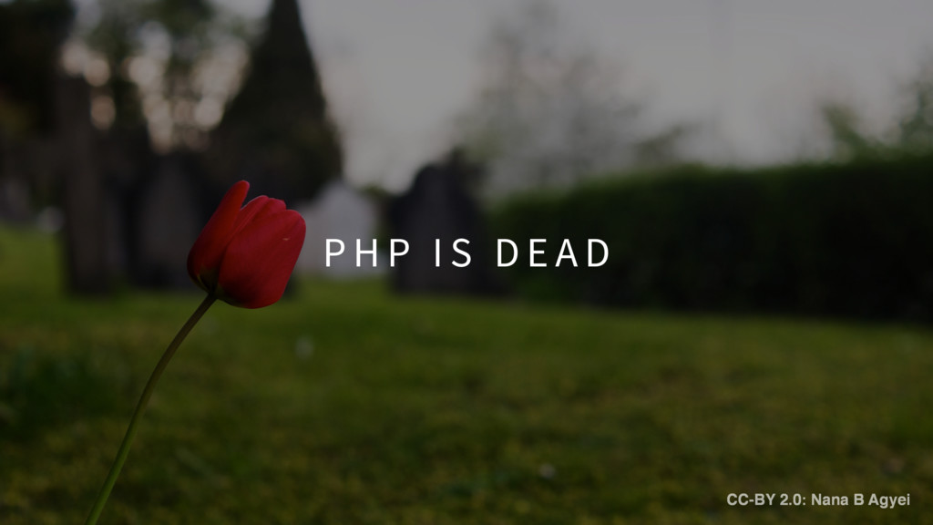 P H P I S D E A D CC-BY 2.0: Nana B Agyei