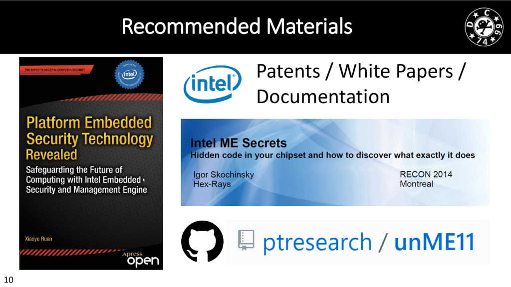 10 Recommended Materials Patents / White Papers...