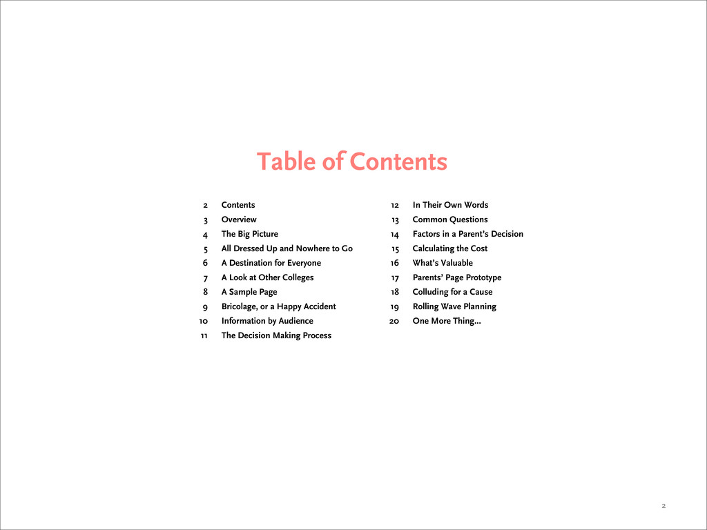 Table of Contents 2 2 3 4 5 6 7 8 9 10 11 Conte...