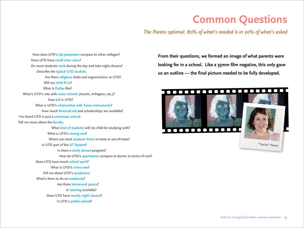 Common Questions The Pareto optimal: 80% of wha...