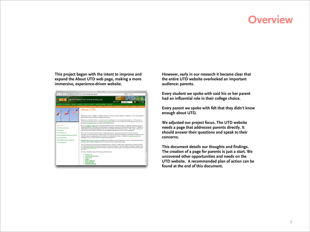 Overview 3 This project began with the intent t...
