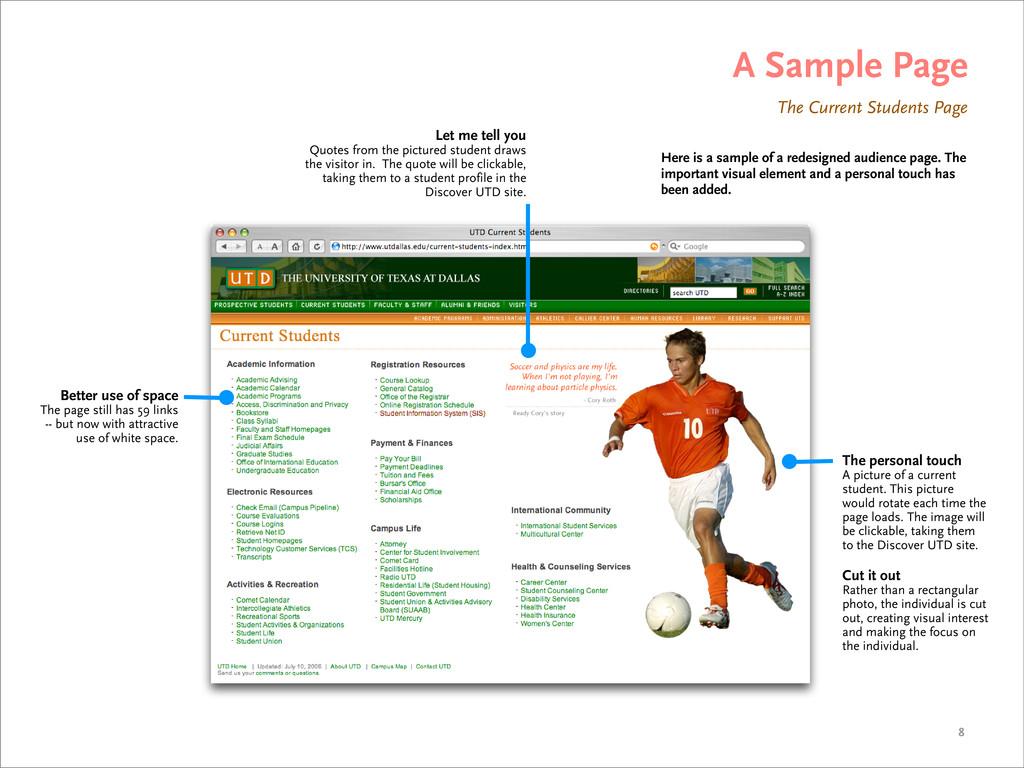 A Sample Page Here is a sample of a redesigned ...