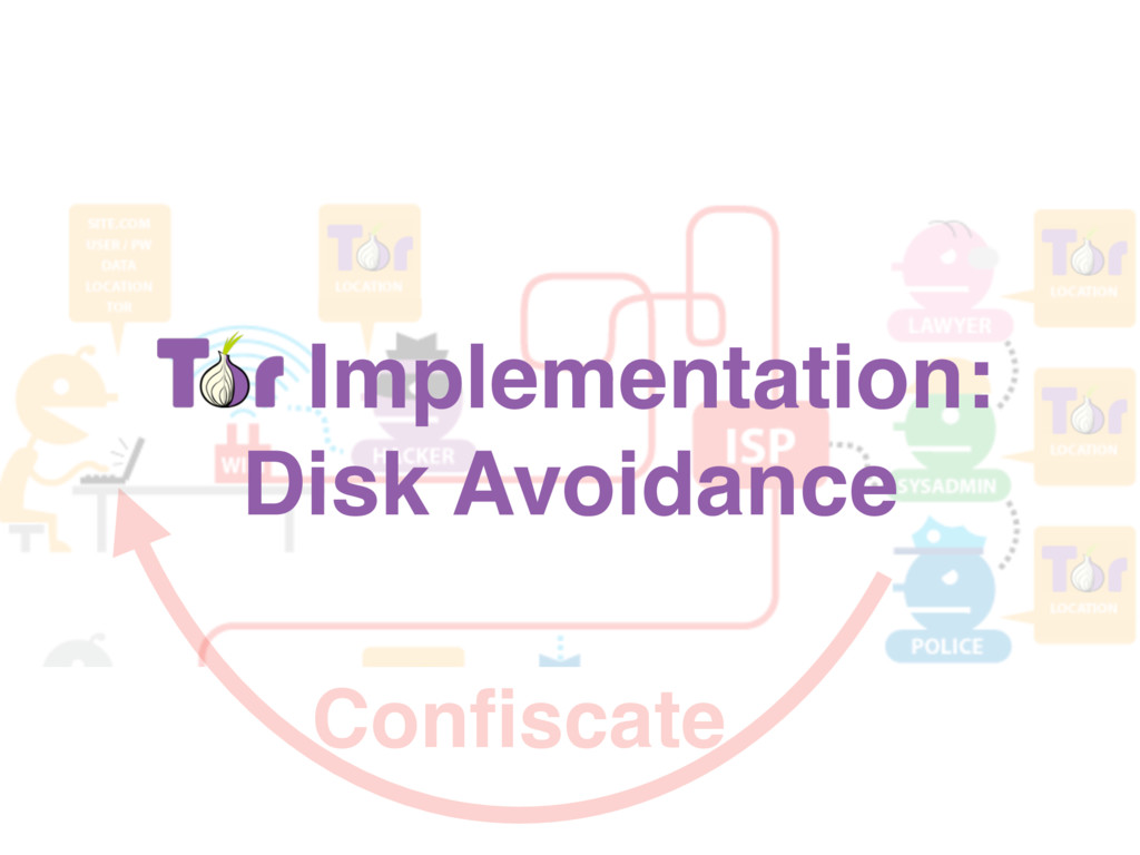 Tor Implementation: Disk Avoidance Confiscate