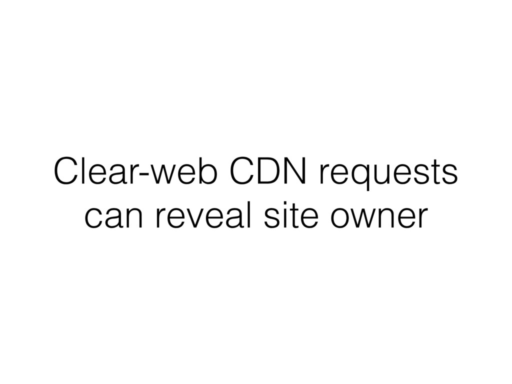 Clear-web CDN requests can reveal site owner