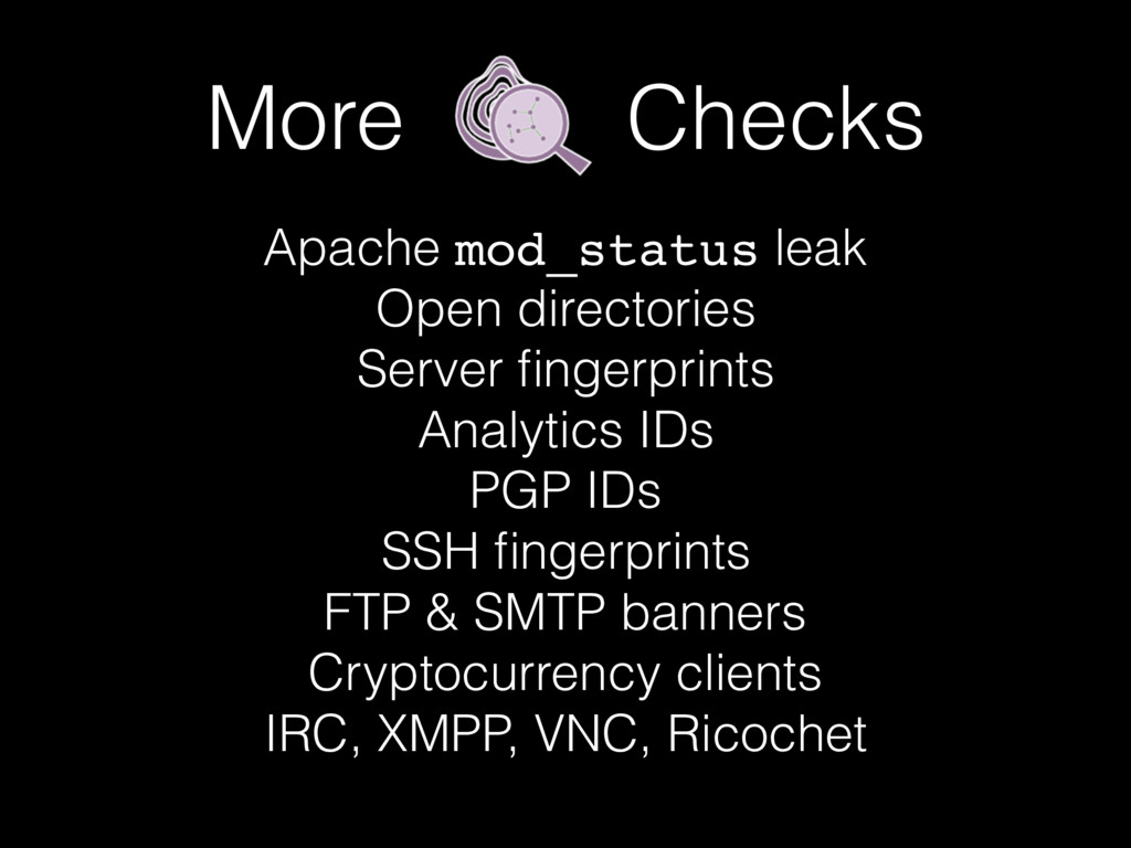 More Checks Apache mod_status leak Open directo...