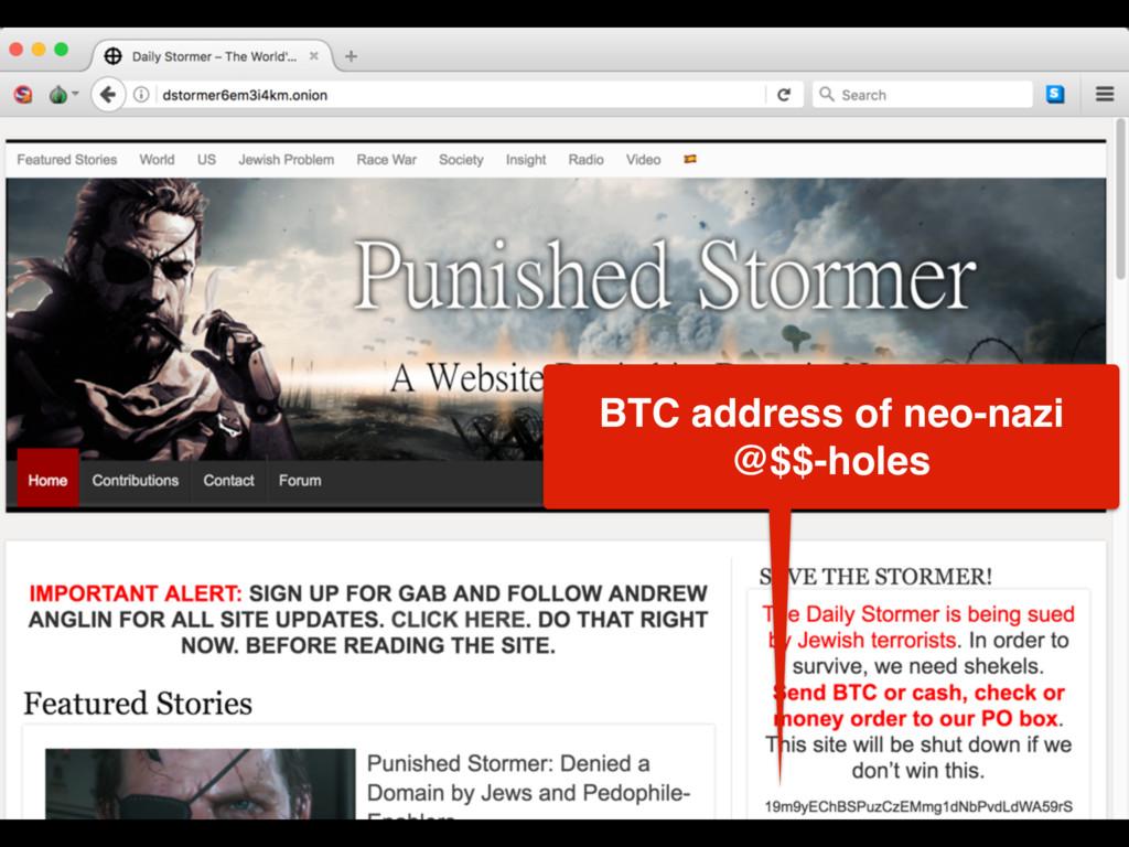 BTC address of neo-nazi @$$-holes