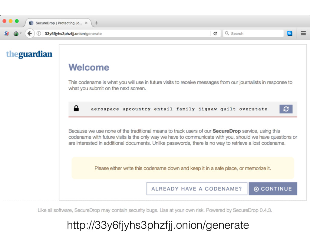 http://33y6fjyhs3phzfjj.onion/generate