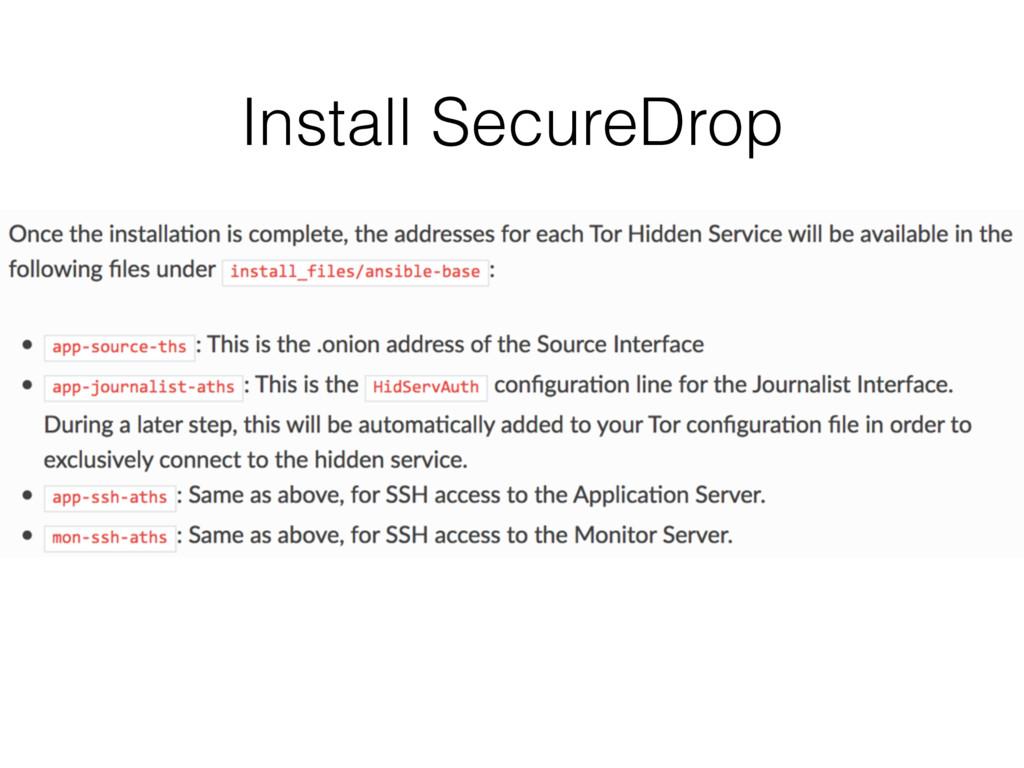 Install SecureDrop