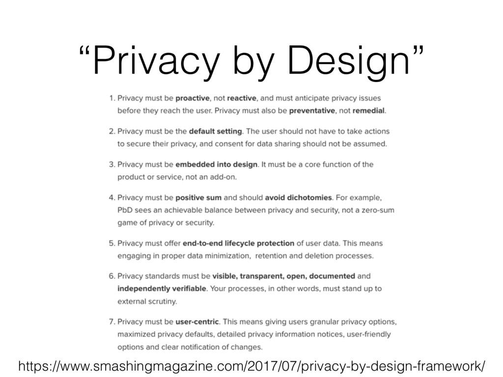 """Privacy by Design"" https://www.smashingmagazin..."