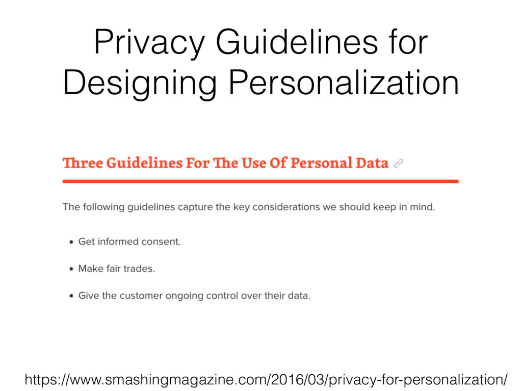 Privacy Guidelines for Designing Personalizatio...