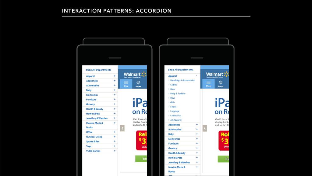 INTERACTION PATTERNS: ACCORDION