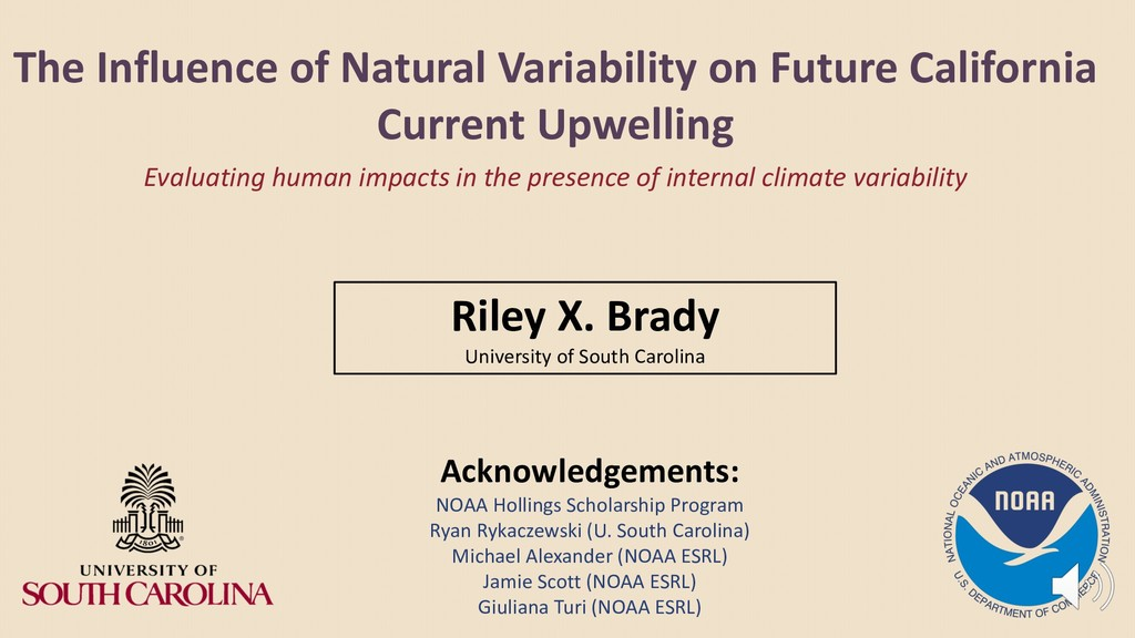 The Influence of Natural Variability on Future ...