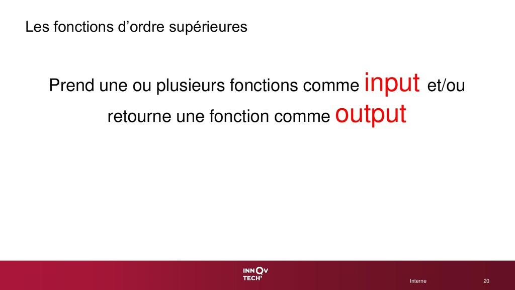 © 2020 CGI Inc. Interne Interne Les fonctions d...