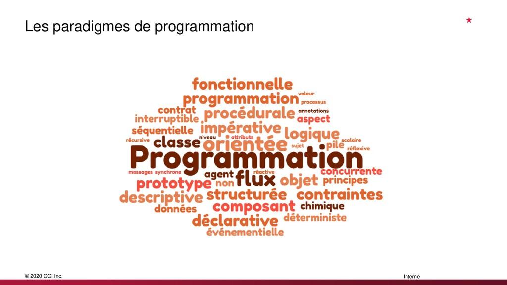 © 2020 CGI Inc. Interne Les paradigmes de progr...