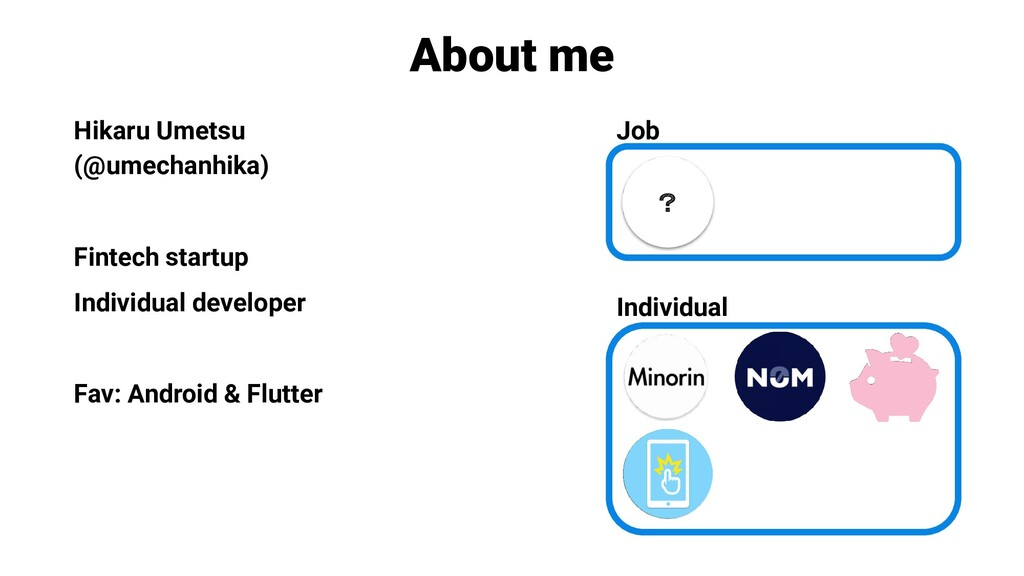 About me Hikaru Umetsu (@umechanhika) Fintech s...