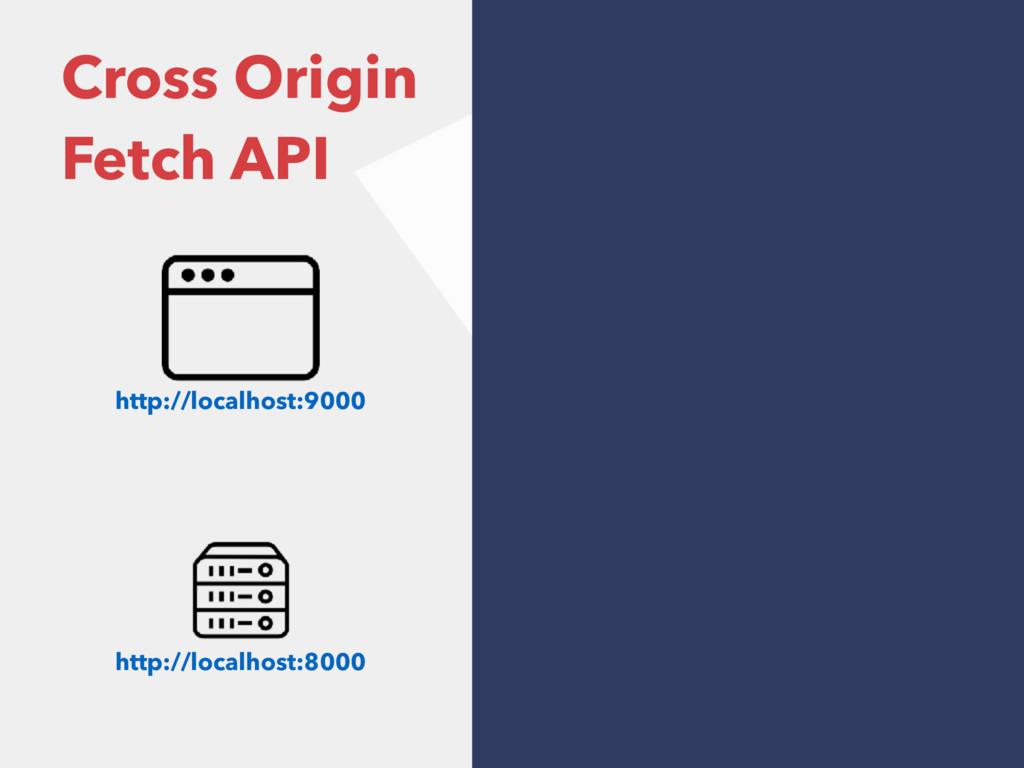 Cross Origin Fetch API http://localhost:9000 ht...