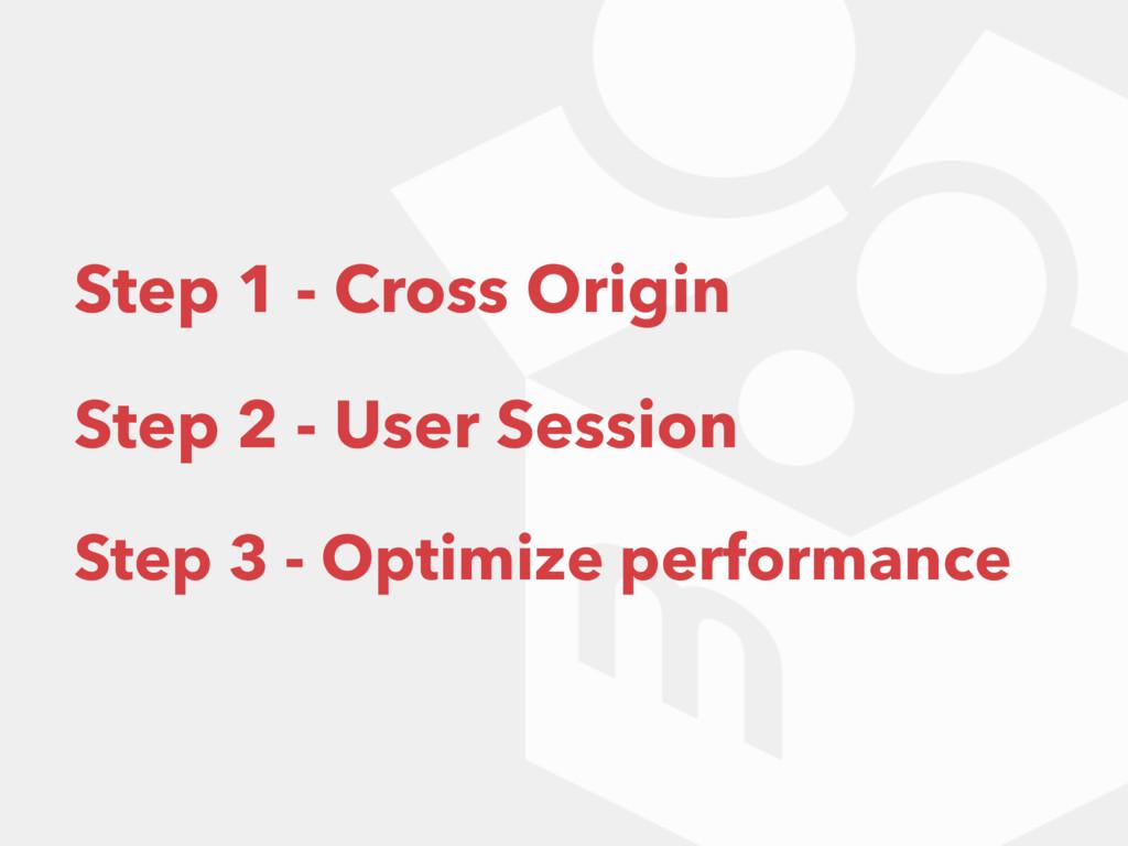 Step 1 - Cross Origin Step 2 - User Session Ste...