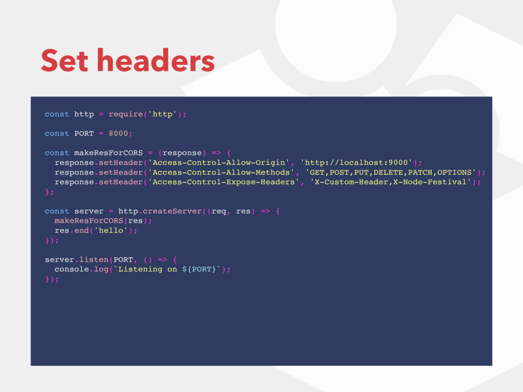 Set headers const http = require('http'); const...