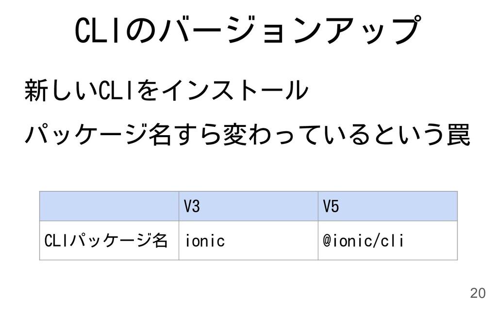 CLIのバージョンアップ 新しいCLIをインストール パッケージ名すら変わっているという罠 2...