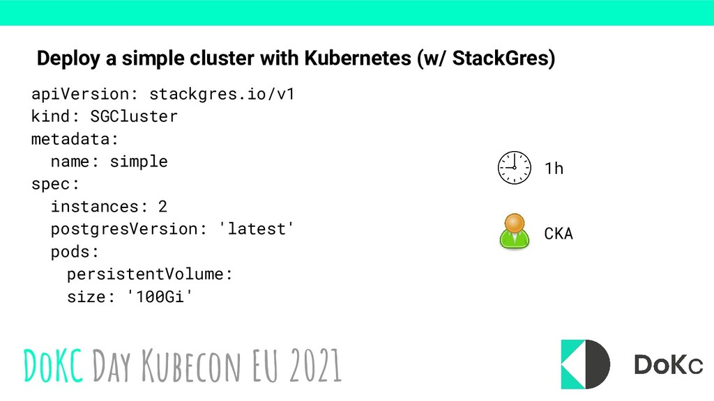 DoKC Day Kubecon EU 2021 Deploy a simple cluste...