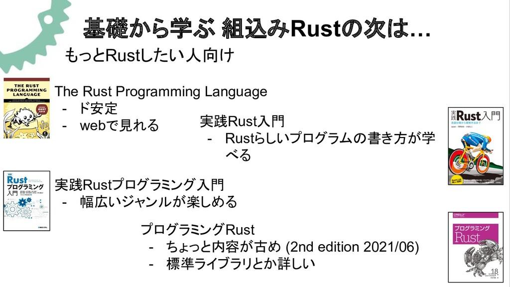 基礎から学ぶ 組込みRustの次は… もっとRustしたい人向け The Rust Progr...