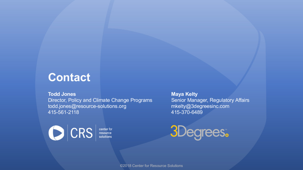 Contact Todd Jones Maya Kelty Director, Policy ...