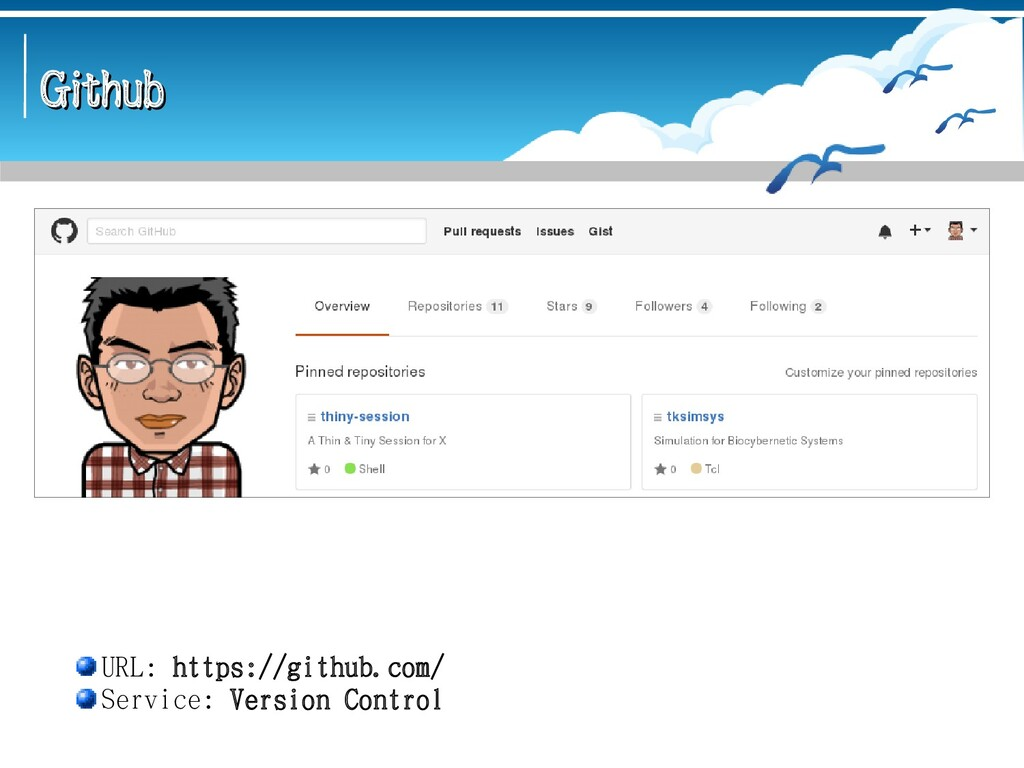 Github Github URL: https://github.com/ Service:...