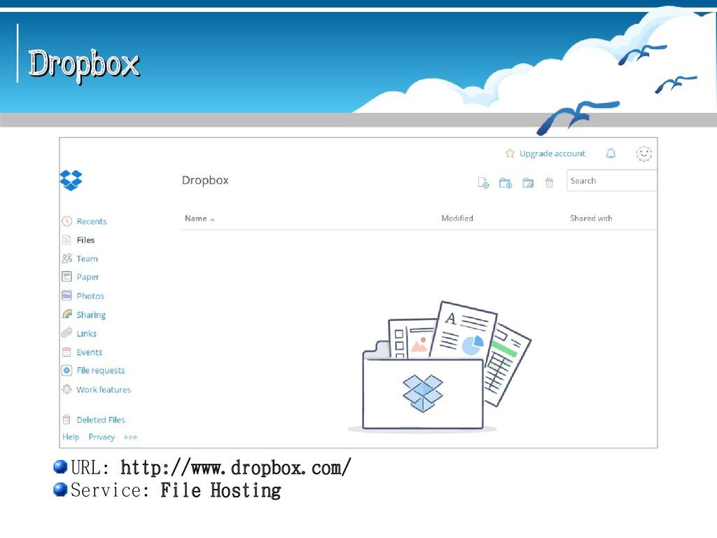 Dropbox Dropbox URL: http://www.dropbox.com/ Se...