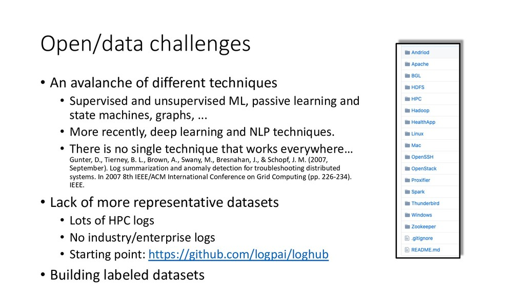 Open/data challenges • An avalanche of differen...