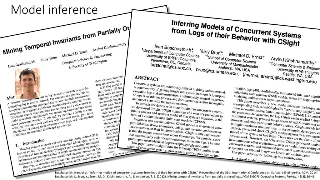 """Beschastnikh, Ivan, et al. """"Inferring models of..."""