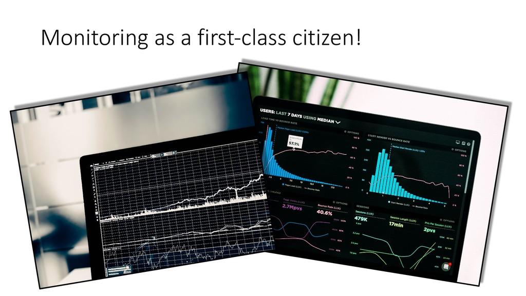 Monitoring as a first-class citizen!