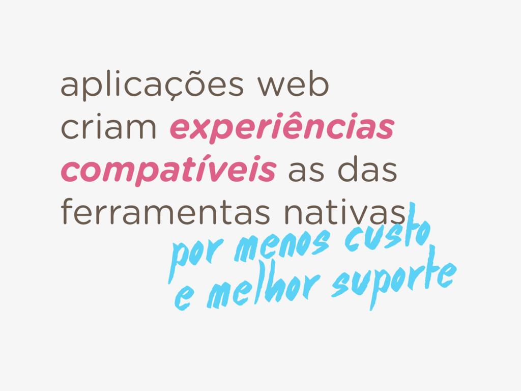 aplicações web criam experiências compatíveis a...