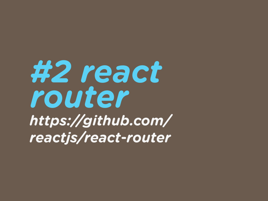 #2 react 