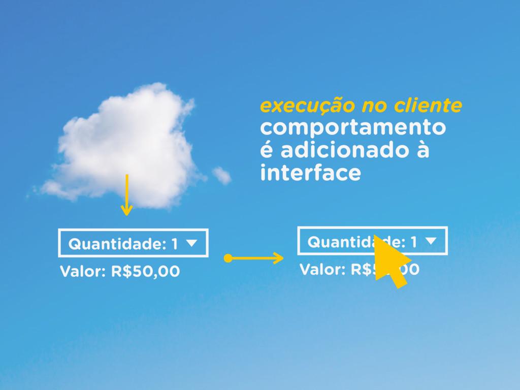 Valor: R$50,00 Quantidade: 1 execução no client...