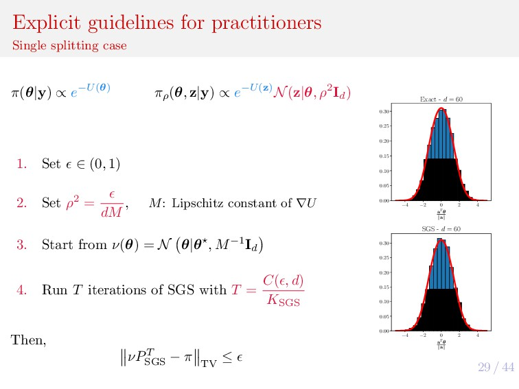 29 / 44 Explicit guidelines for practitioners S...