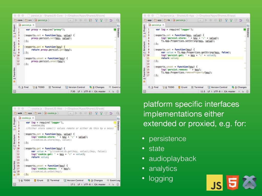 platform specific interfaces implementations eit...