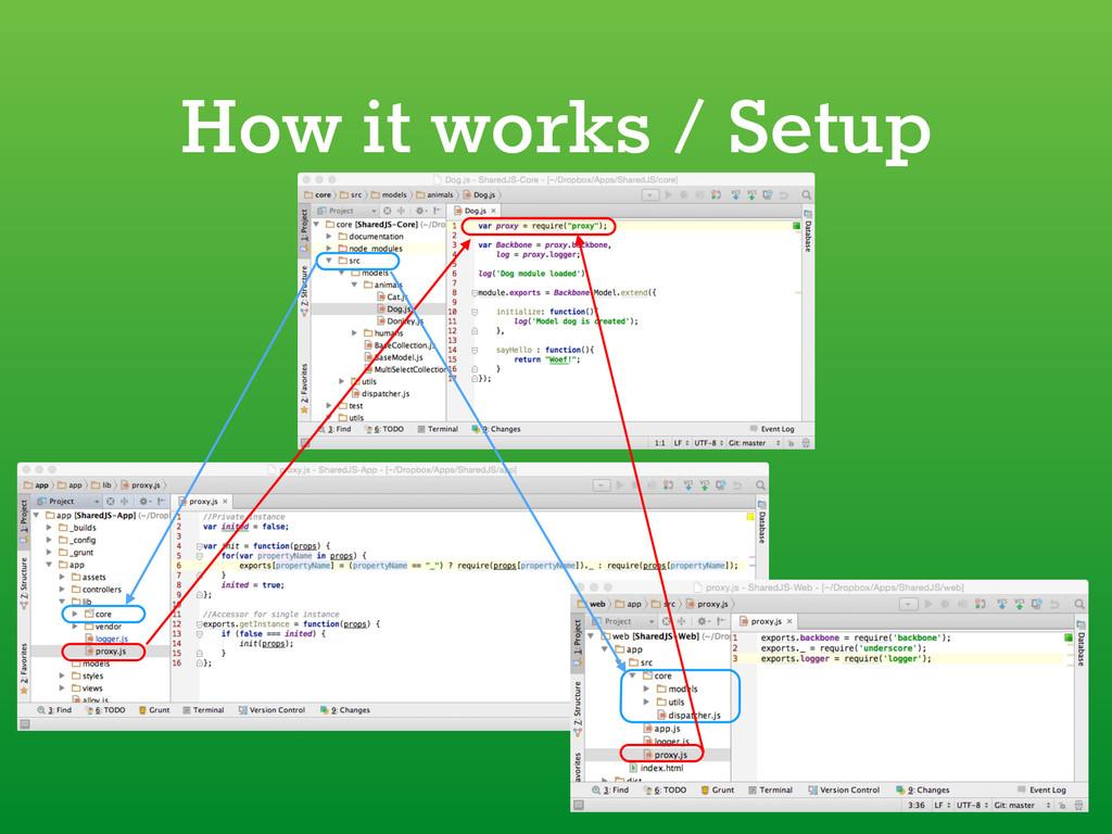 How it works / Setup