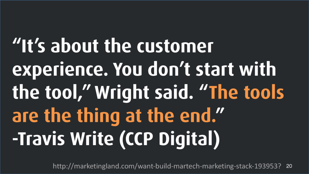 """""""It's about the customer experience. You don't ..."""