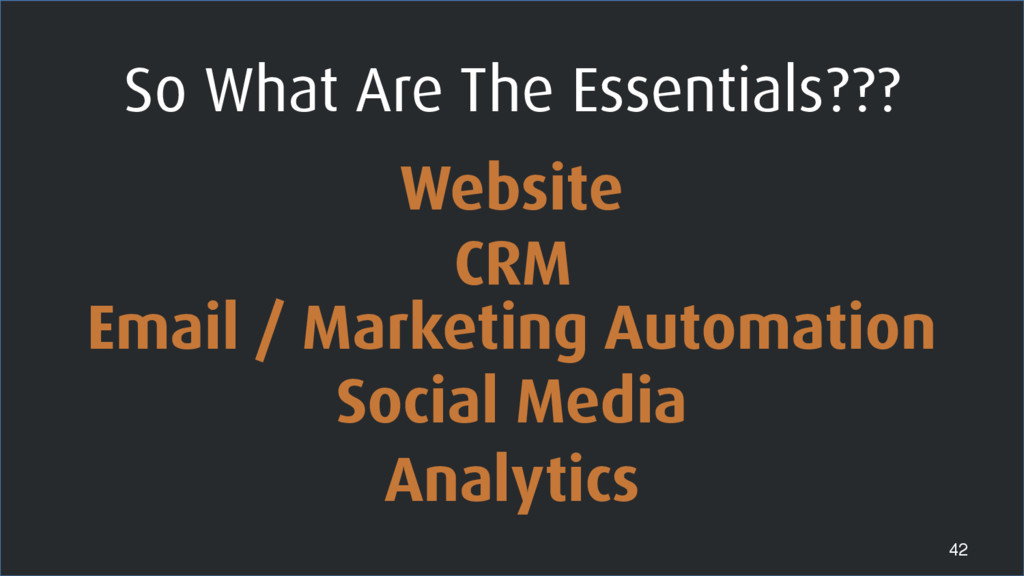 42 Website CRM Email / Marketing Automation Soc...