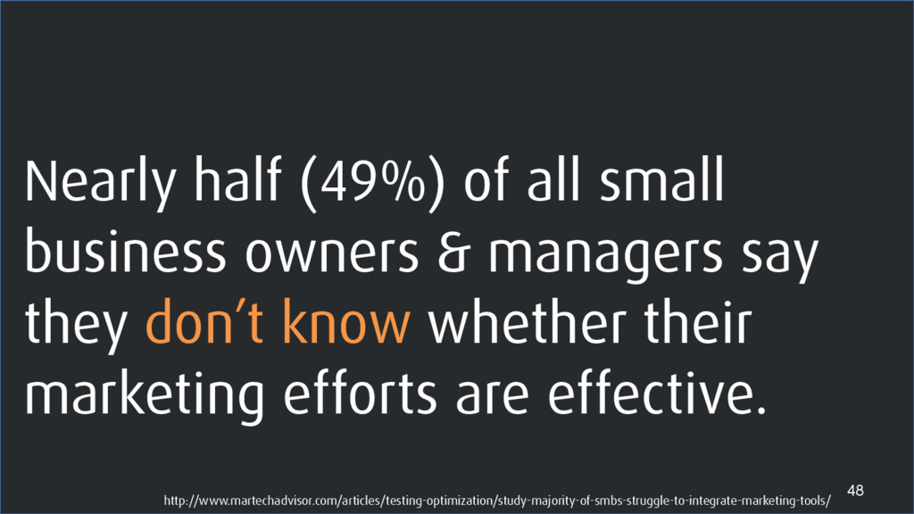 Nearly half (49%) of all small business owners ...