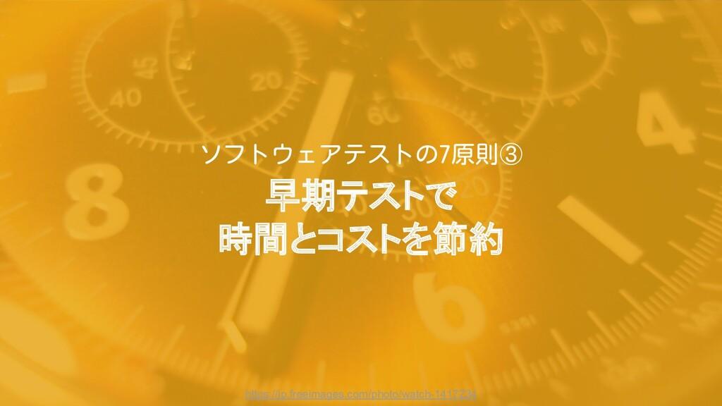 早期テストで 時間とコストを節約 https://jp.freeimages.com/phot...