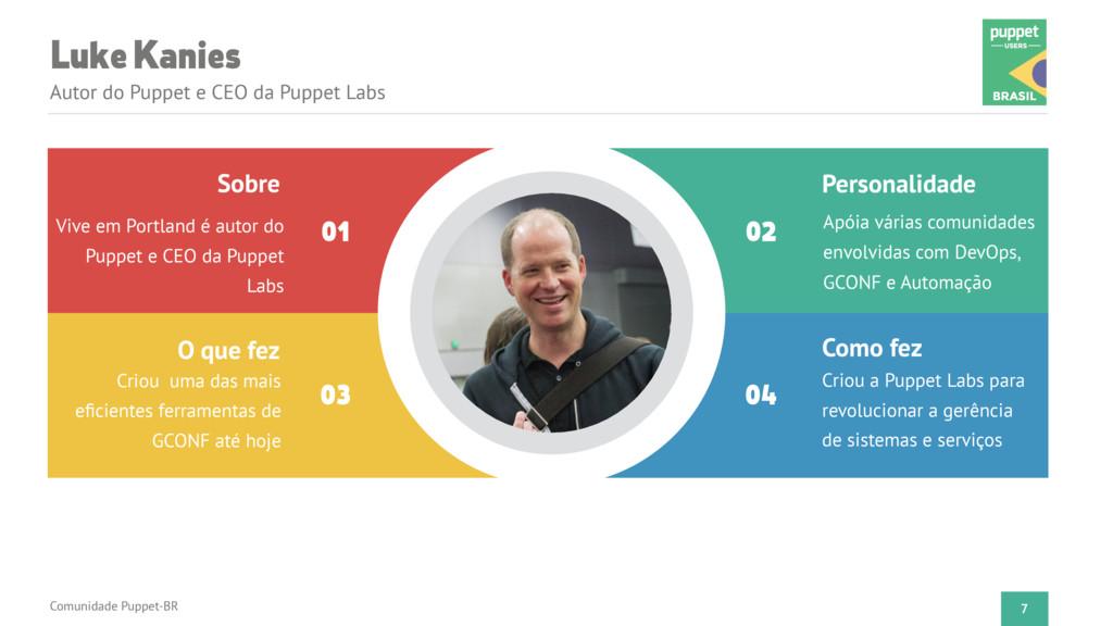 Luke Kanies Autor do Puppet e CEO da Puppet Lab...
