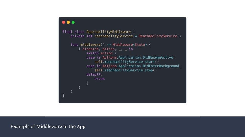 Example of Middleware in the App